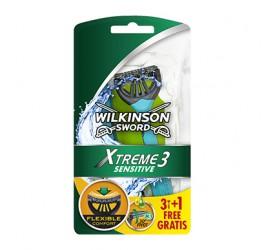 Wilkinson Xtreme3 Sensitive eldobható borotva 4 darabos